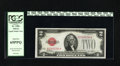 Small Size:Legal Tender Notes, Fr. 1501 $2 1928 Legal Tender Note. PCGS Gem New 65PPQ. This early Deuce is well margined with the classic fire engine red o...