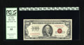 Small Size:Legal Tender Notes, Fr. 1551 $100 1966A Legal Tender Note. PCGS Choice About New 55. This pretty Red Seal Hundred from the much better 1966A Ser...