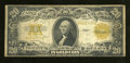 Large Size:Gold Certificates, Fr. 1187 $20 1922 Gold Certificate Fine. This is a crispy note that has toned a shade....