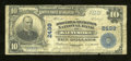 National Bank Notes:Maryland, Baltimore, MD - $10 1902 Plain Back Fr. 633 The Drovers &Mechanics NB Ch. # 2499. This Very Good note possesses the...