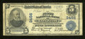 National Bank Notes:Missouri, Kansas City, MO - $5 1902 Plain Back Fr. 599 The First NB Ch. #3456. A couple of approximate quarter inch edge splits a...