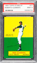 Baseball Cards:Singles (1960-1969), 1964 Topps Stand-Up Roberto Clemente PSA Mint 9 - None Higher....