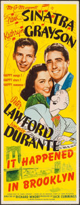 "Movie Posters:Musical, It Happened in Brooklyn (MGM, 1947). Insert (14"" X 36""). Musical.. ..."