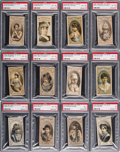 "Non-Sport Cards:Lots, 1880-92 N342 Thos. Hall ""Between the Acts"" Actors, Actresses,Athletes & Presidential Candidates Collection (139). ..."