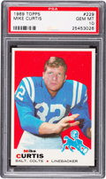 Football Cards:Singles (1960-1969), 1969 Topps Mike Curtis #229 PSA Gem Mint 10 - Pop One! ...