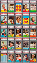Baseball Cards:Sets, 1963 Topps Baseball Complete Set (576) With 568 PSA Graded Cards....