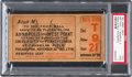 Football Collectibles:Tickets, 1901 Army Vs. Navy Football Game Full Ticket, PSA Good 2....