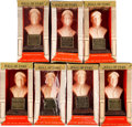 Baseball Collectibles:Others, 1963 Baseball Hall of Fame Bust Lot of 7. ...