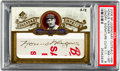 Autographs:Sports Cards, 2006 Upper Deck SP Legendary Cuts Honus Wagner Legendary SignatureCuts 1/1 PSA NM-MT 8. ...
