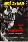 """Football Collectibles:Publications, 1963 """"Run to Daylight"""" Green Bay Packers Team Signed Hardcover Book - With Lombardi!..."""