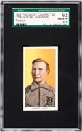 Baseball Cards:Singles (Pre-1930), 1909-11 T206 Piedmont Hugh Jennings, Portrait SGC 92 NM/MT+ 8.5 -The Finest T206 Jennings In an SGC Holder! ...