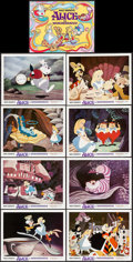 "Movie Posters:Animation, Alice in Wonderland (Buena Vista, R-1974). Lobby Card Set of 9 (11""X 14""). Animation.. ... (Total: 9 Items)"