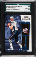Football Cards:Singles (1970-Now), 2000 Playoff Contenders Tom Brady #144 Rookie Autograph SGC 92NM/MT+ 8.5. ...