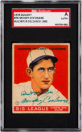 Autographs:Sports Cards, Signed 1933 Goudey Mickey Cochrane #76 SGC Authentic. ...