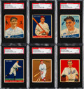 Autographs:Sports Cards, Signed 1933 & 1934 Goudey Baseball Card Collection (6). ...