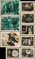 "Movie Posters:Comedy, Slightly Used & Others Lot (Warner Brothers, 1927). Lobby Cards (6), Title Lobby Card, Spanish Language Lobby Cards (2) (11""... (Total: 18 Items)"