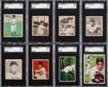 Baseball Cards:Lots, 1930's - 1950's Goudey, Topps & Bowman SGC Graded Collection (14). ...