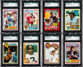Football Cards:Sets, 1978 - 1985 Topps and USFL Football High Grade Set Collection (10)....