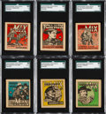 Non-Sport Cards:Lots, 1934 R151 National Chicle Tom Mix Comic Book Collection (52). ...