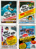 Baseball Cards:Unopened Packs/Display Boxes, 1979-1985 Baseball Cello Pack Collection (9). ...