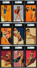 "Non-Sport Cards:Lots, 1940-45 Mutoscope ""Artist Pin Ups"" High Grade Collection (356)Fresh From Vending. ..."