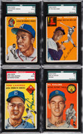 Baseball Cards:Sets, 1954 Topps Baseball Complete Set (250) With 50 Signed Cards. ...