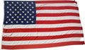 Baseball Collectibles:Others, 2000 Ted Williams Signed American Flag - Made Infamous After Boston Globe Column. ...