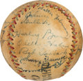 Autographs:Bats, 1935 Cleveland Indians Team Signed Baseball with Walter Johnson....