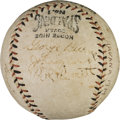 Baseball Collectibles:Bats, 1920 New York Giants Team Signed Baseball with Babe Ruth from Havana, Cuba....