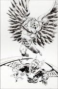 Original Comic Art:Covers, Steve Lieber and Rick Magyar Hawkman V4#11 Cover OriginalArt (DC, 1994)....