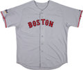 Baseball Collectibles:Uniforms, 2007 Eric Gagne Game Worn Boston Red Sox World Series Jersey. ...
