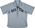 Baseball Collectibles:Uniforms, 2003 Nomar Garciaparra Game Worn Boston Red Sox Turn Back the Clock Jersey. ...