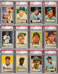 Baseball Cards:Lots, 1952 Topps Baseball PSA Graded Collection (120)....
