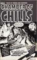 Original Comic Art:Covers, Lee Elias Chamber of Chills Magazine #5 Cover Original Art (Harvey, 1952)....