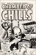 Original Comic Art:Covers, Lee Elias Chamber of Chills Magazine #24 (#4) Cover OriginalArt (Harvey, 1951)....