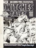 Original Comic Art:Covers, Lee Elias Witches Tales #13 Cover Original Art (Harvey,1952)....