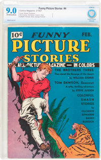 Funny Picture Stories #4 (Comics Magazine, 1937) CBCS VF/NM 9.0 Off-white to white pages