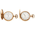 Timepieces:Pocket (post 1900), Illinois & Elgin Hunter's Case Pocket Watches. ... (Total: 2Items)