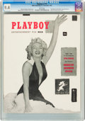 Magazines:Miscellaneous, Playboy #1 Newsstand Edition (HMH Publishing, 1953) CGC NM 9.4 White pages....