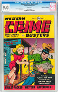Golden Age (1938-1955):Western, Western Crime Busters #7 Mile High Pedigree (Trojan Publishing,1951) CGC VF/NM 9.0 White pages....
