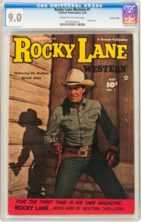 Rocky Lane Western #1 Crowley Copy Pedigree (Fawcett Publications, 1949) CGC VF/NM 9.0 Cream to off-white pages