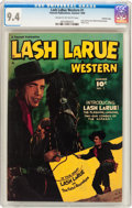 Golden Age (1938-1955):Western, Lash LaRue Western #1 Crowley Copy Pedigree (Fawcett Publications,1949) CGC NM 9.4 Cream to off-white pages....