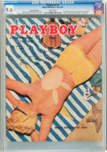 Magazines:Vintage, Playboy V2#7 Newsstand Edition (HMH Publishing, 1955) CGC NM+ 9.6 White pages....