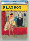 Magazines:Vintage, Playboy V2#6 (HMH Publishing, 1955) CGC NM+ 9.6 White pages....