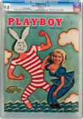 Magazines:Vintage, Playboy V4#8 Newsstand Edition (HMH Publishing, 1957) CGC NM/MT 9.8 White pages....