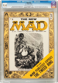 MAD #25 (EC, 1955) CGC NM 9.4 Cream to off-white pages