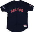 Baseball Collectibles:Uniforms, 2013 Will Middlebrooks Game Worn Boston Red Sox Postseason Jersey with B Strong & Postseason Patches - MLB Hologram. ... (Total: 16 item)