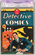 Golden Age (1938-1955):Adventure, Detective Comics #26 (DC, 1939) CGC Apparent VF- 7.5 Slight to Moderate (A-2) Cream to off-white pages....