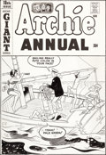 Original Comic Art:Covers, Dan DeCarlo (attributed) Archie Annual #18 Cover OriginalArt (Archie, 1966)....