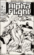 Original Comic Art:Covers, Jackson Guice Alpha Flight #97 Cover Original Art (Marvel,1991)....